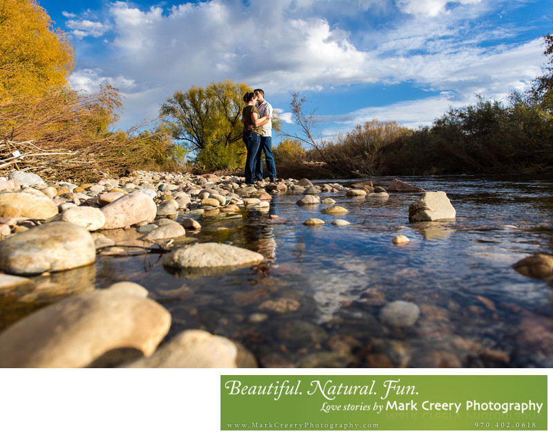 Autumn engagement photos in Colorado