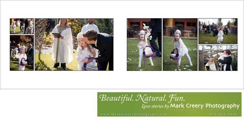 Cute flower girls at Breckenridge Nordic Center wedding