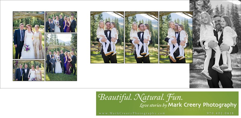 Groom with daughters at Breckenridge Nordic Center wedding