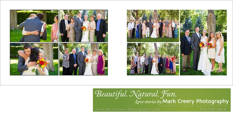 Family portraits at backyard Fort Collins wedding