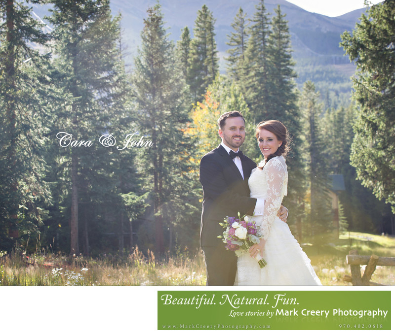 Bride & Groom portrait at Breckenridge Nordic Center