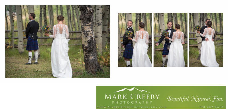First Look at Perry Mansfield wedding in Steamboat