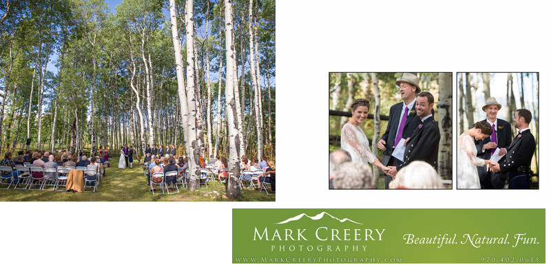 Aspen meadow ceremony at Perry Mansfield wedding