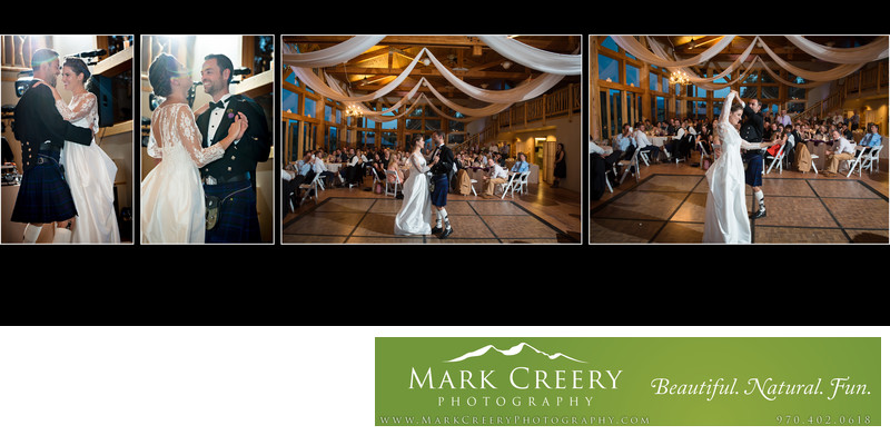 First Dance for couple at Perry Mansfield wedding