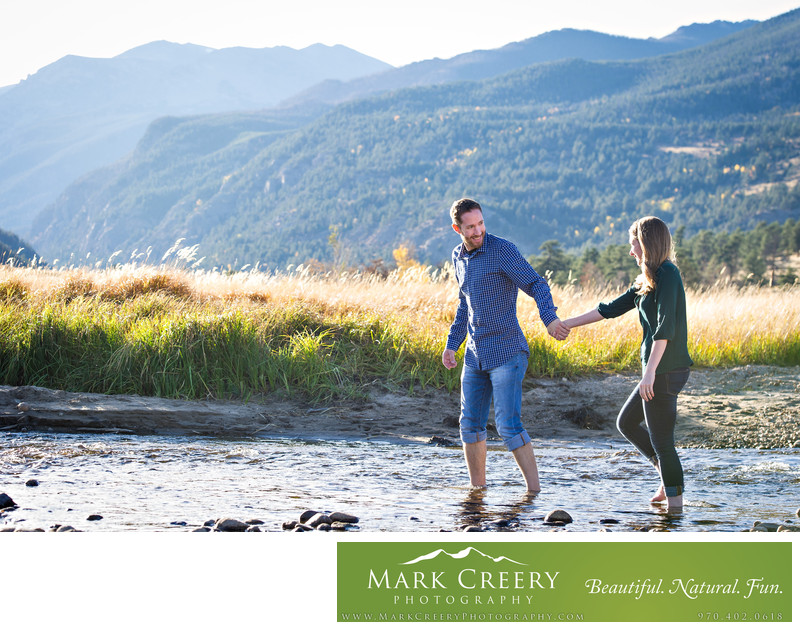 Destination engagement photographer in Estes Park