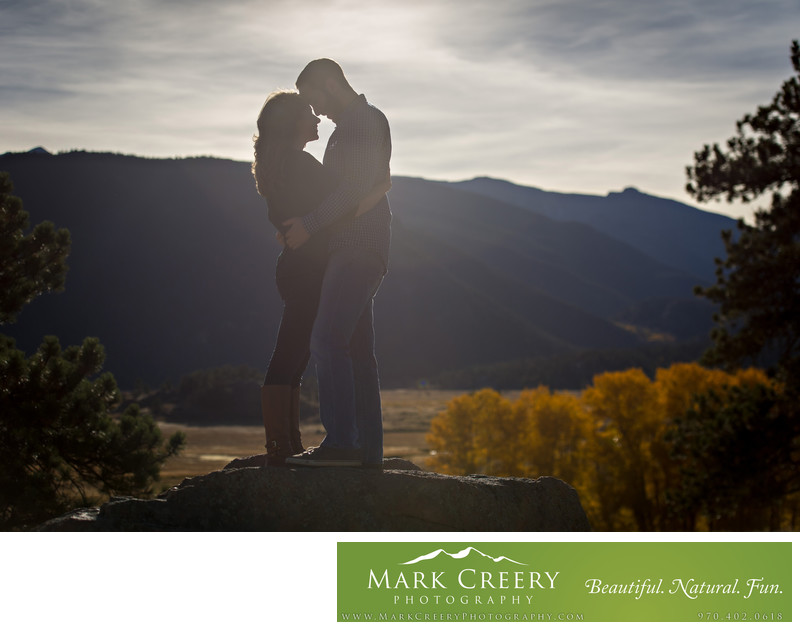 Engagement photos in Estes Park