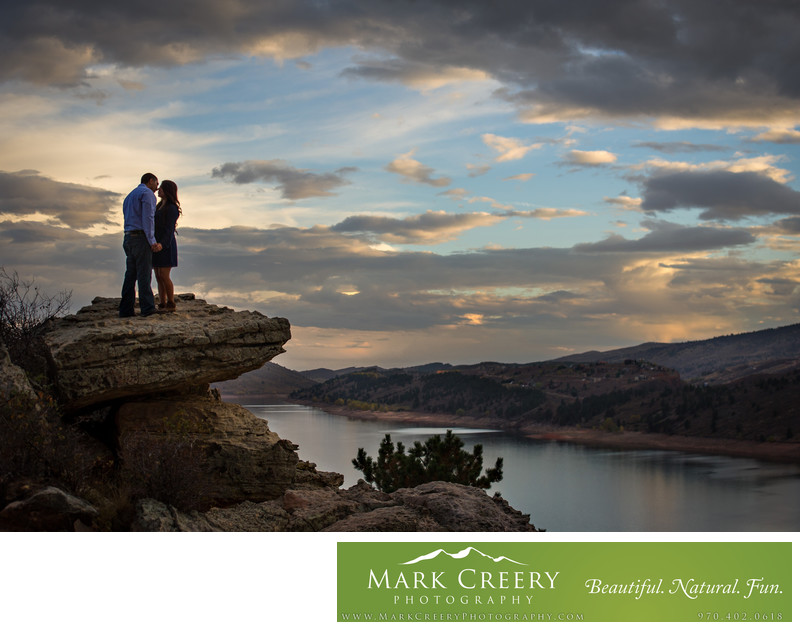 Horsetooth Reservoir engagement photos