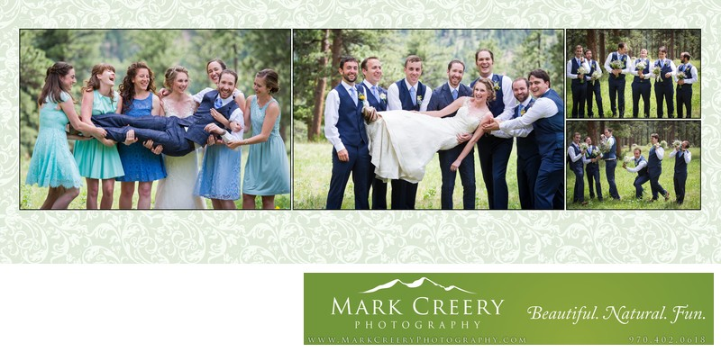 fun bridal party photos Della Terra wedding