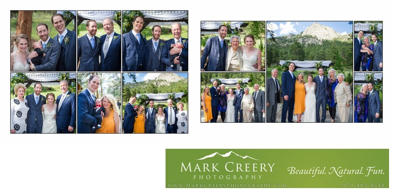 Family portraits at ceremony site Della Terra wedding