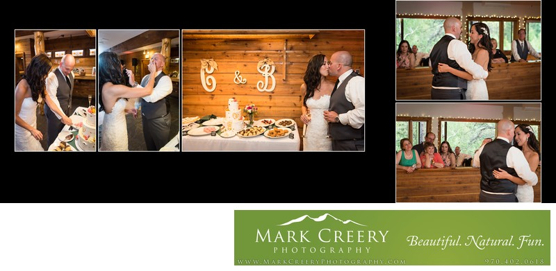 Cake cutting & First Dance at Wild Basin Lodge wedding