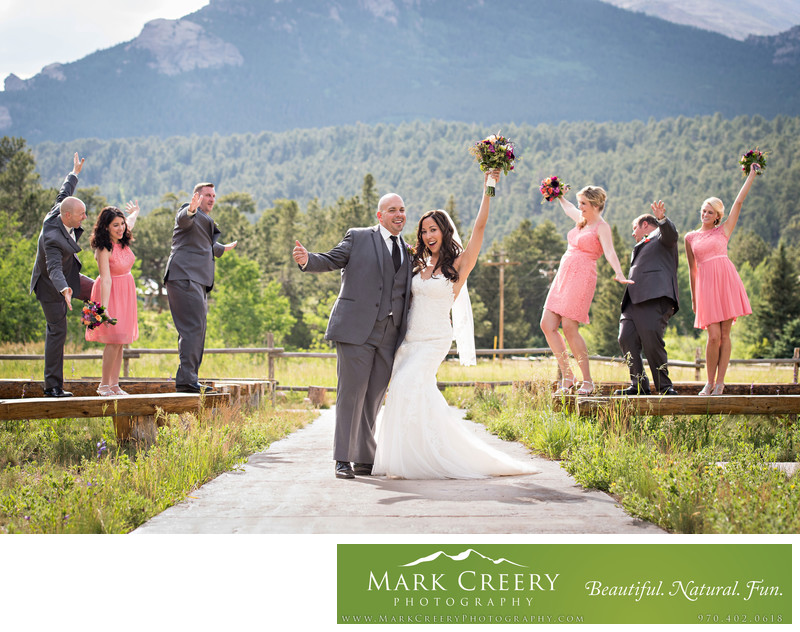 Wedding photographer for Wild Basin Lodge
