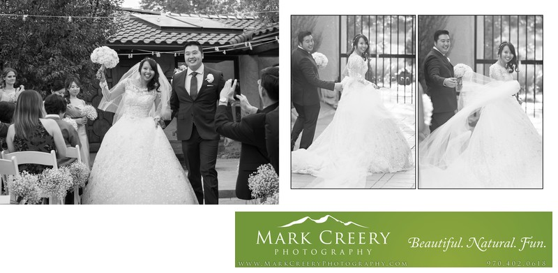 Wedding ceremony recessional Villa Parker