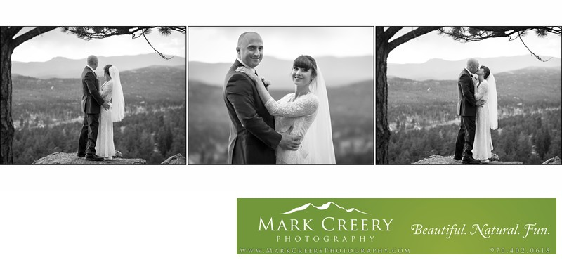 Couple kissing at Beaver Meadows Resort Ranch wedding