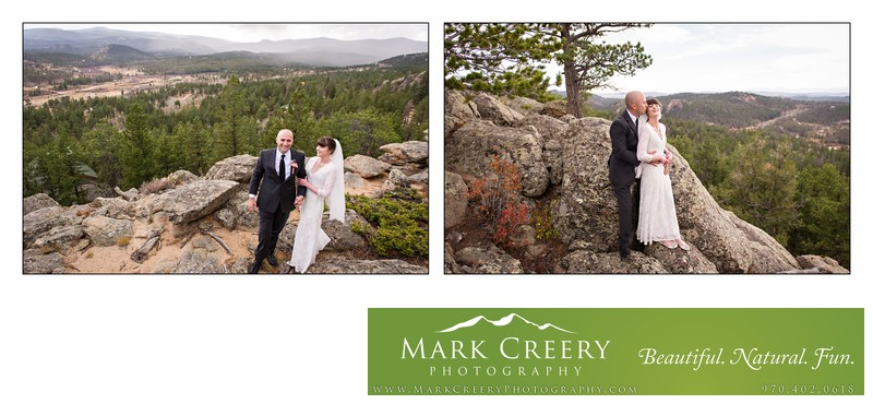 Scenic bridal portraits at Beaver Meadows Resort Ranch