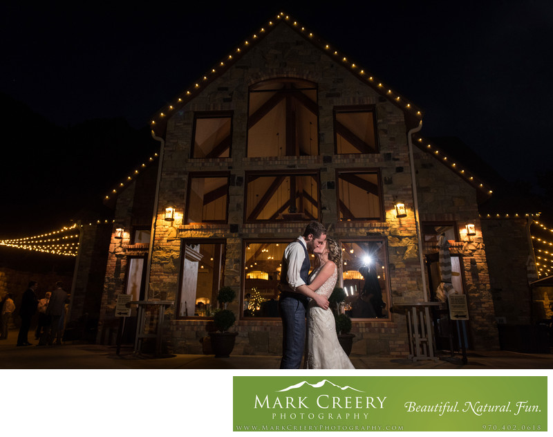 Bride & Groom portrait at Della Terra wedding in Estes Park