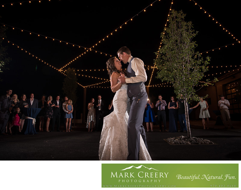 Reception at Spruce Mountain Ranch wedding