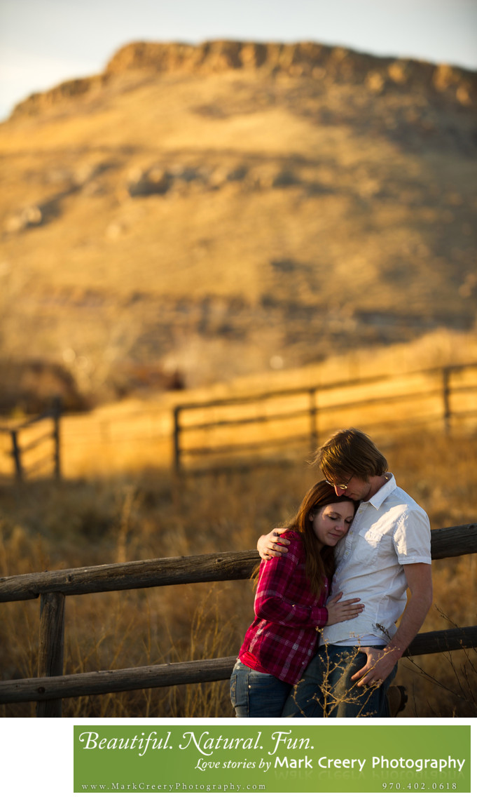 Country engagement photos in Colorado