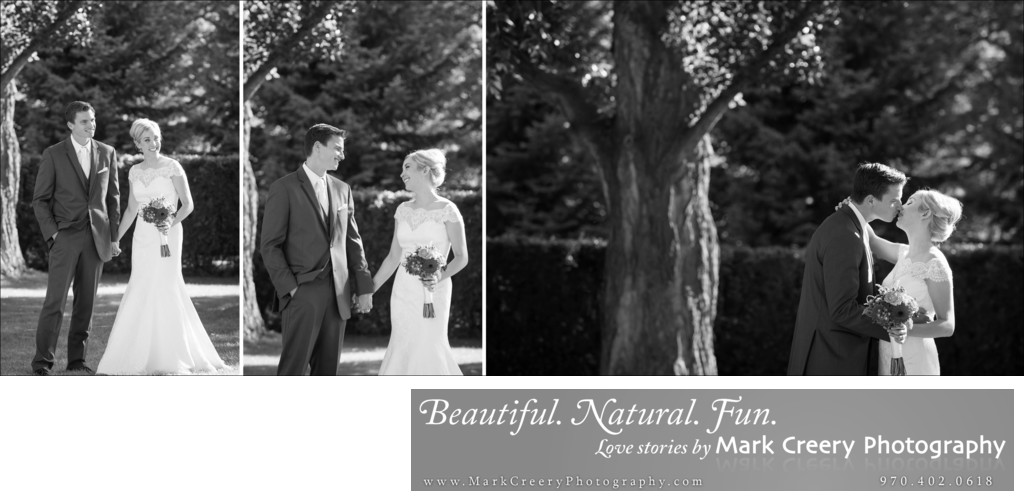 Black & Whites bride & groom candids Fort Collins wedding