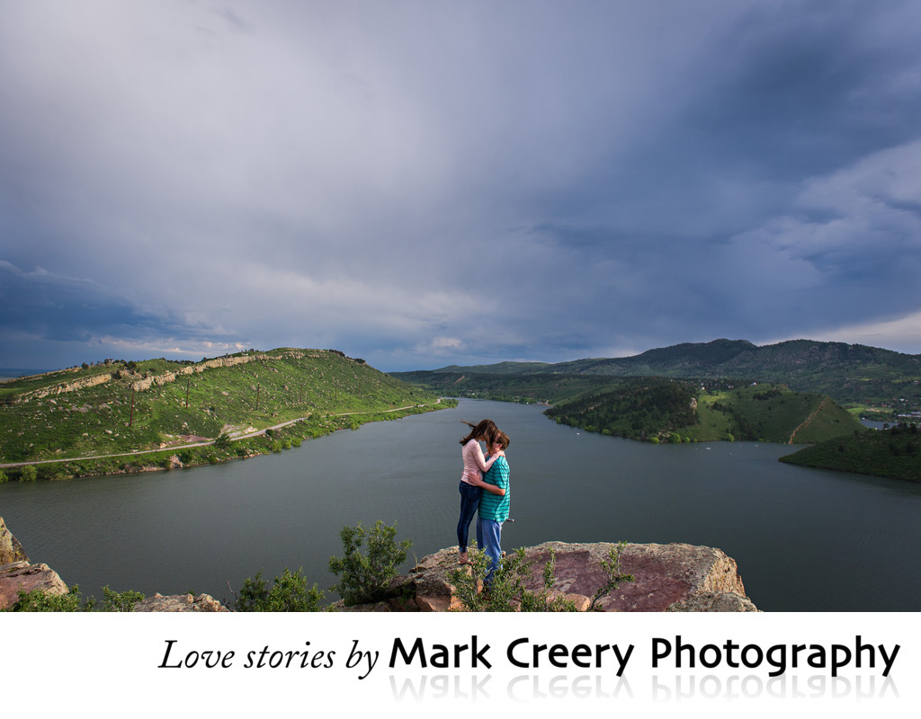 Destination engagement photographer in Colorado