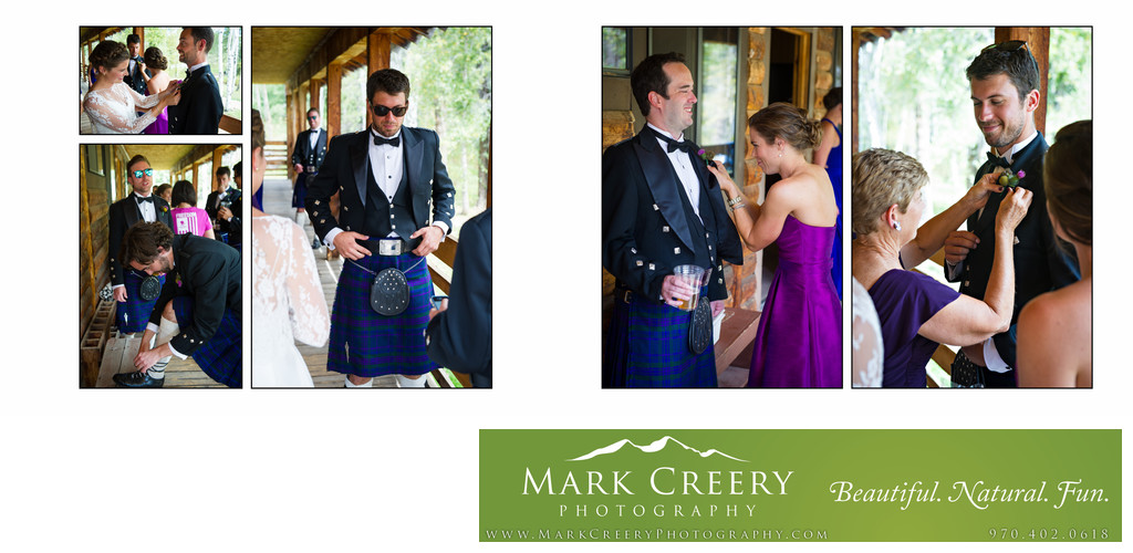 Bridal party getting ready at Perry Mansfield wedding