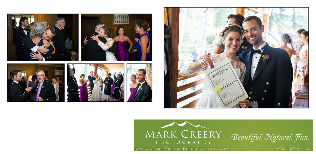 Married couple celebrate at Perry Mansfield wedding
