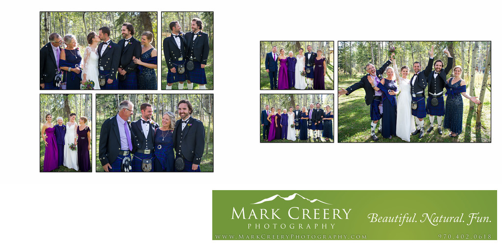 Family portraits at Perry Mansfield wedding