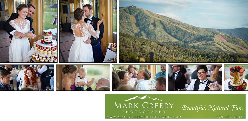 Reception at Perry Mansfield wedding in Steamboat