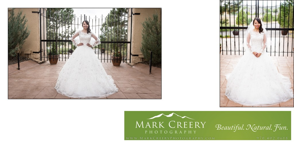 Bride portrait fairy tale dress Villa Parker