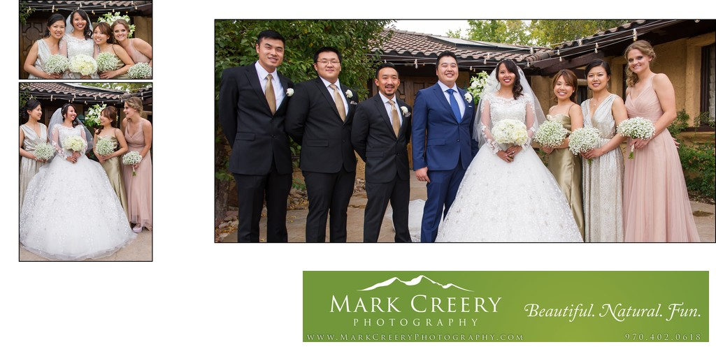 Bridal party portraits Villa Parker