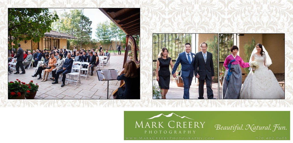 Wedding ceremony processional Villa Parker