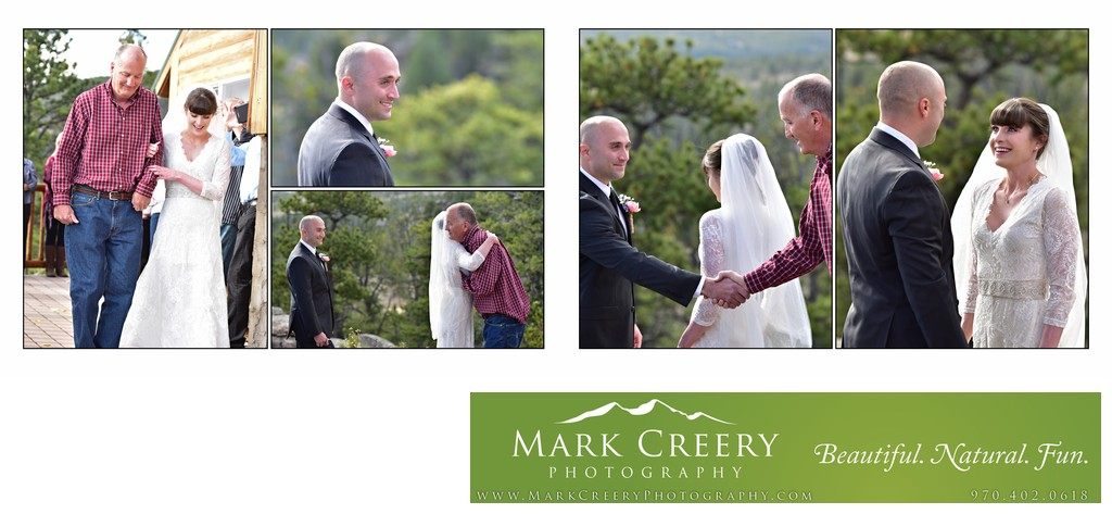 Wedding ceremony in Red Feather Lakes