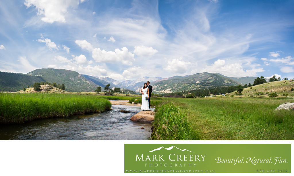 Moraine Park wedding photo panorama