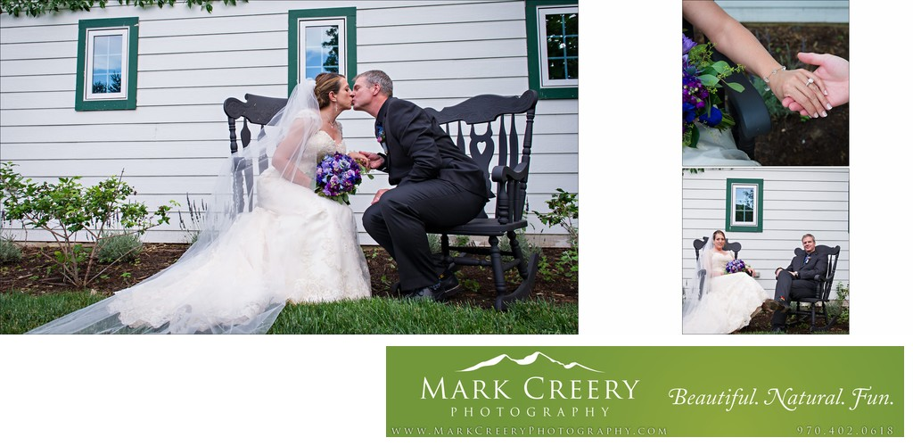 Bride & Groom kissing at Lionsgate Event Center Gatehouse