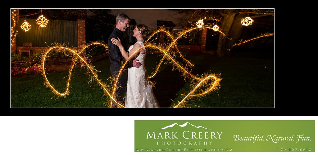 Sparkler wedding photo at Lionsgate Event Center Gatehouse