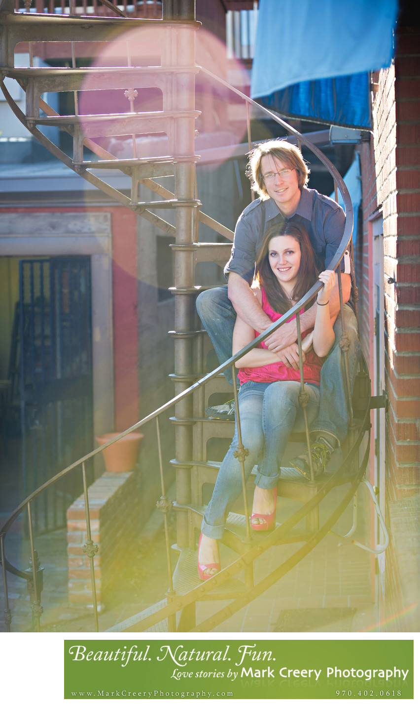 Old Town Fort Collins engagement photography