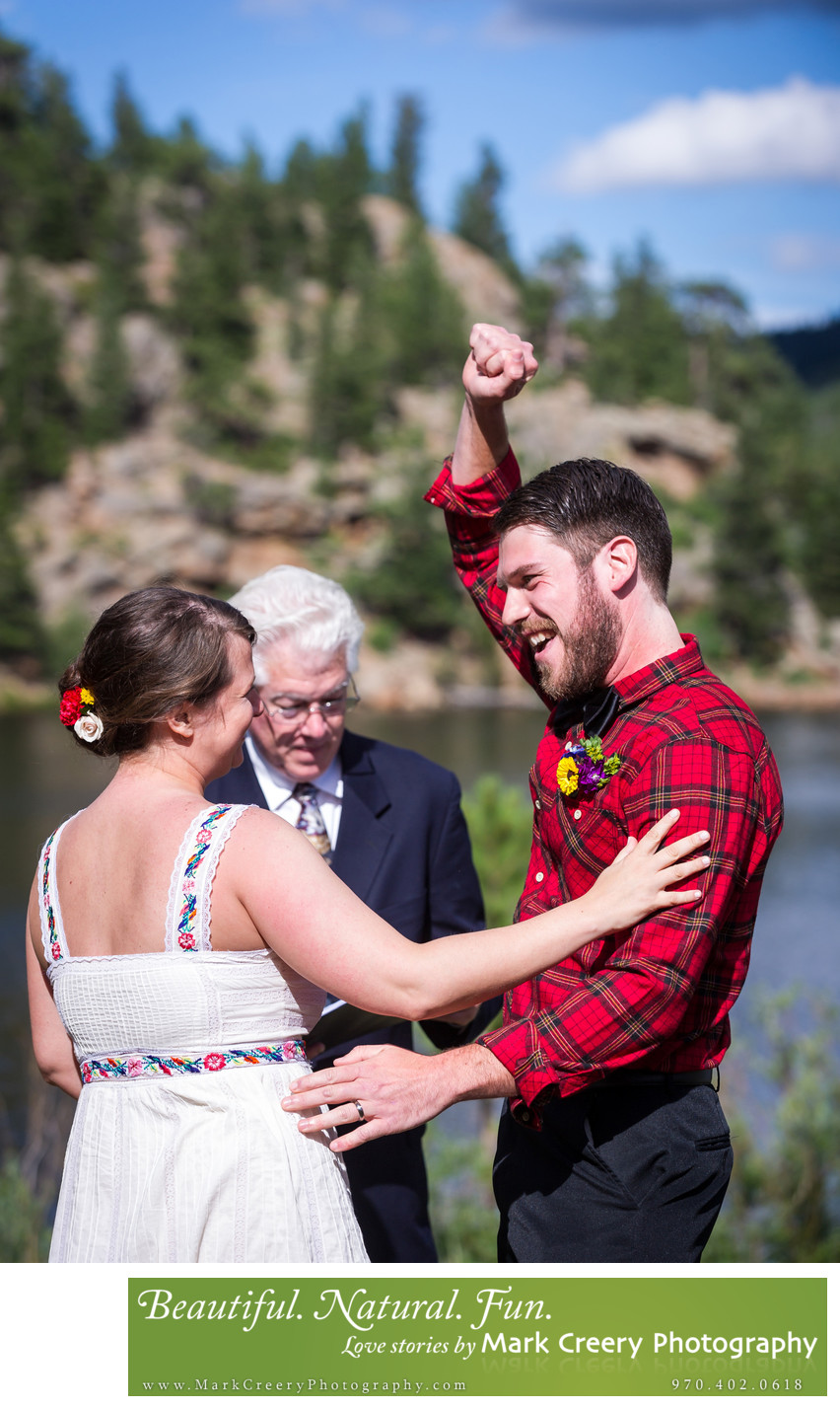 Rocky Mountain wedding photographer in Colorado