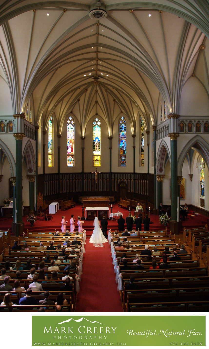 Denver church wedding photography
