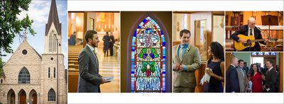 Wedding at St. Joseph's Catholic Church in Fort Collins