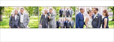 Family portraits at Colorado State University wedding