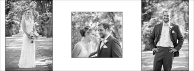Black & Whites of couple at CSU Oval wedding in Fort Collins