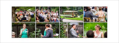 Trolley at City Park wedding in Fort Collins