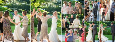 Outdoor reception dancing at Fort Collins wedding