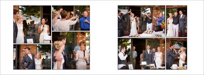 Reception toasts at Fort Collins wedding at private residence