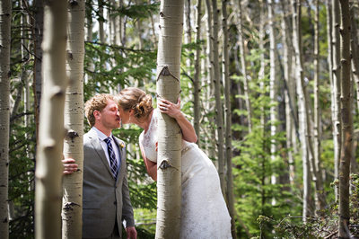Aspens wedding photo in Breckenridge