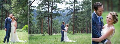 Bride and groom portraits in the trees Della Terra