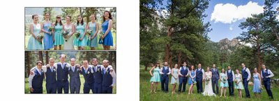 Bridal party portraits Della Terra wedding