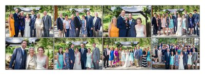 Family photos at Della Terra Mountain Chateau wedding