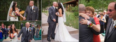 Bride & Groom recessional at Wild Basin Lodge