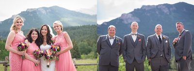 Bridesmaids & groomsmen at Wild Basin Lodge ceremony site