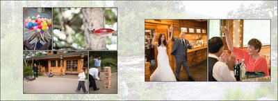 Wedding reception games & hummingbirds at Wild Basin Lodge